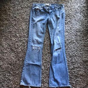 Victoria's Secret Pink Light Wash Distressed Jeans